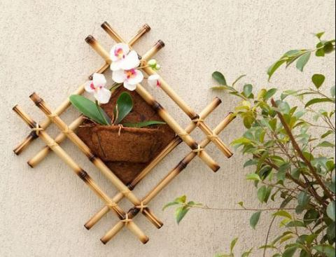 Kerajinan Dari Bambu Gantungan Baju